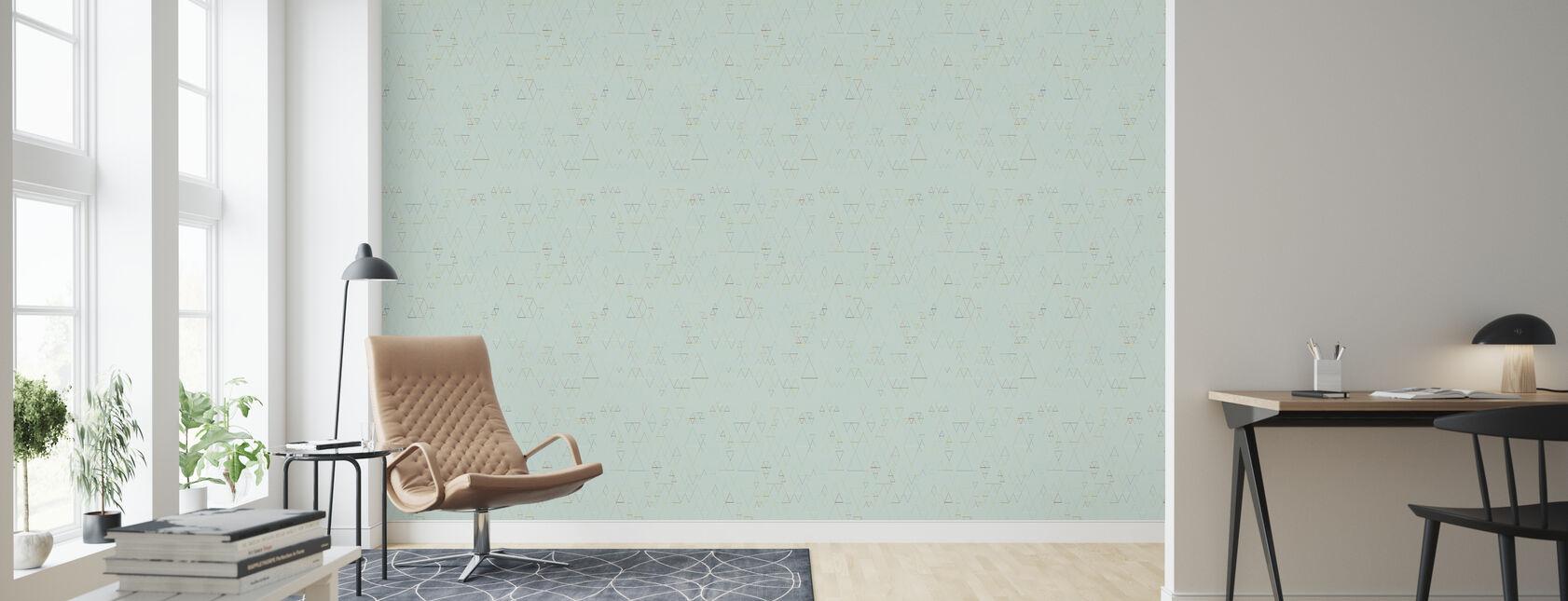 Retroline Mint - Wallpaper - Living Room