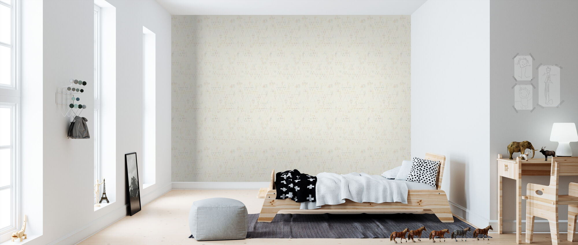 Retroline Offwhite - Wallpaper - Kids Room