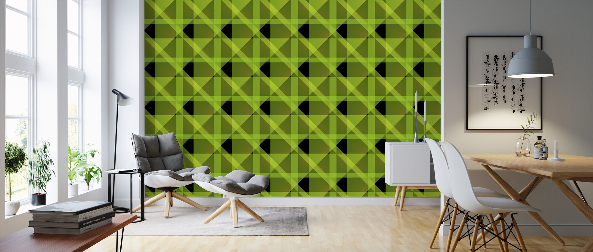 Zero - Green - Wallpaper - Living Room