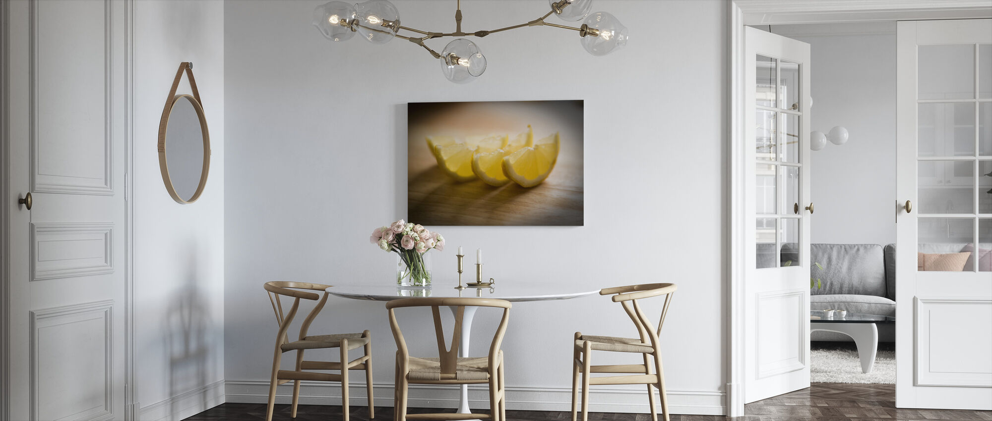 Freshly Sliced Lemon - Jesús Sierra - Canvas print - Kitchen