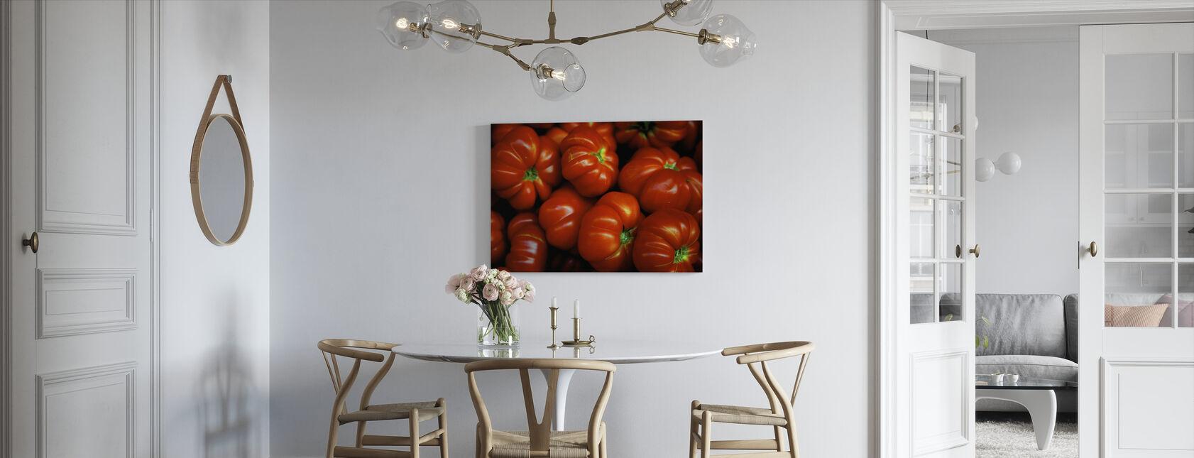 Italienske tomater - Billede på lærred - Køkken