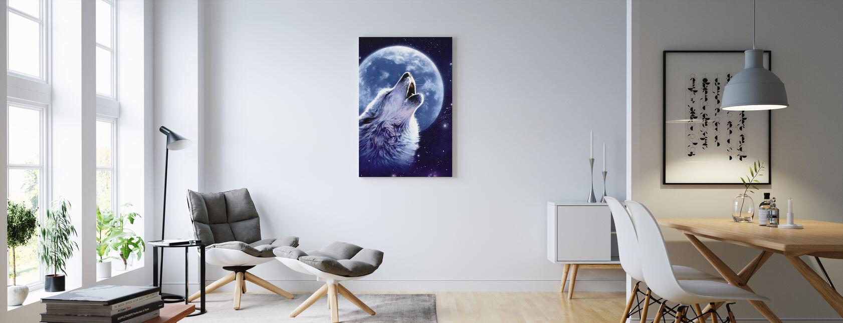 Ring av vilda - Wolf - Canvastavla - Vardagsrum