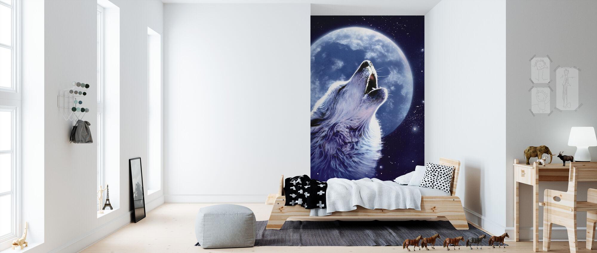 Ring av vill - ulv - Tapet - Barnerom