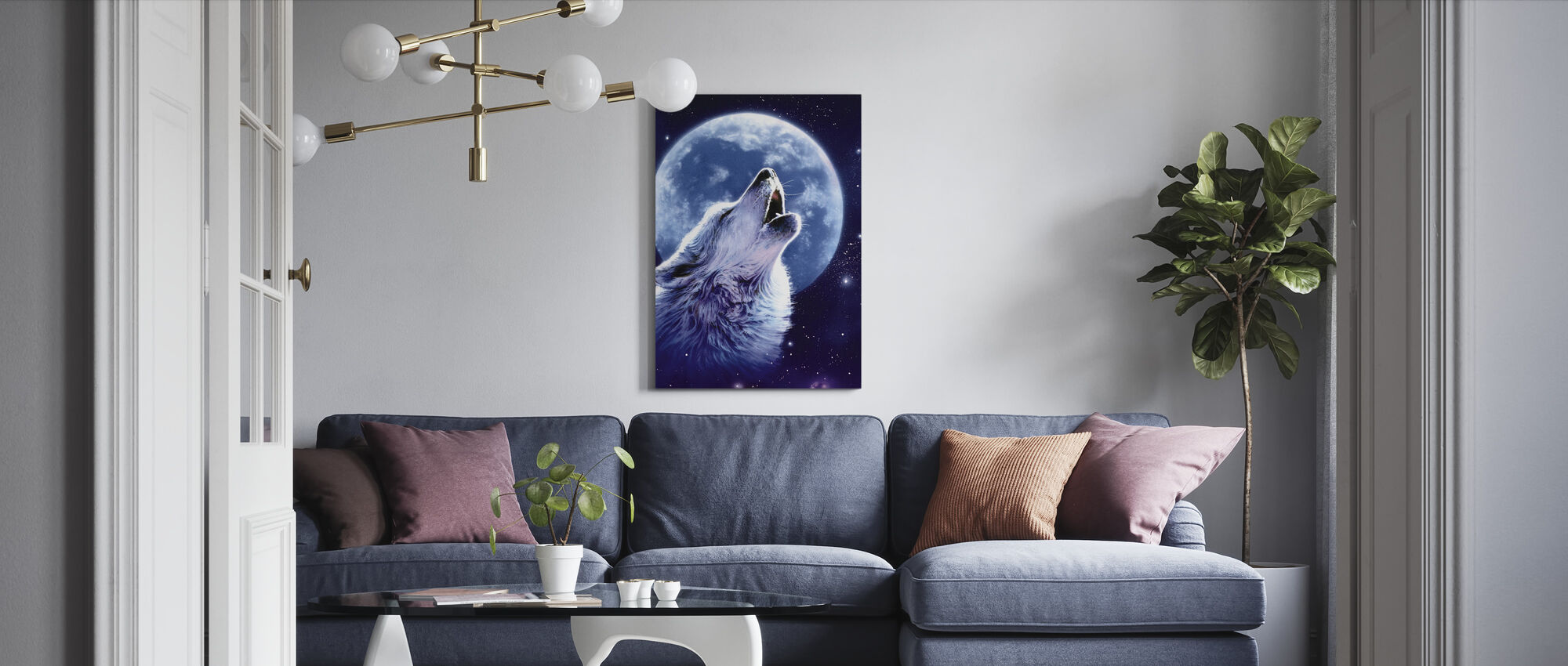 Call of the Wild - Wolf - Canvas print - Living Room