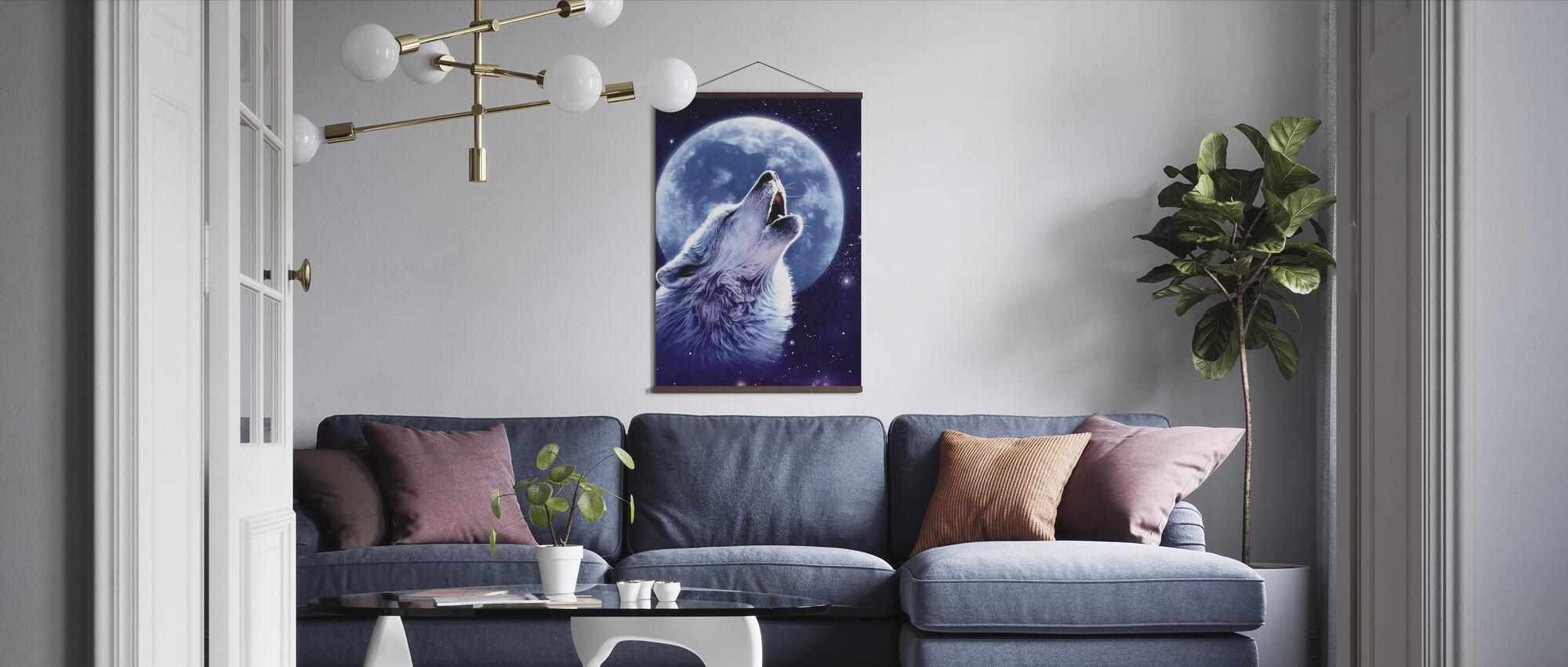 Ring av vill - ulv - Plakat - Stue