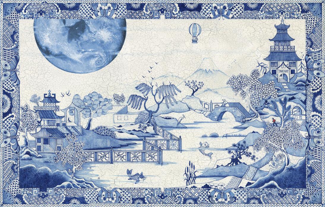 Blue Moon Crazed - Lerretsbilde