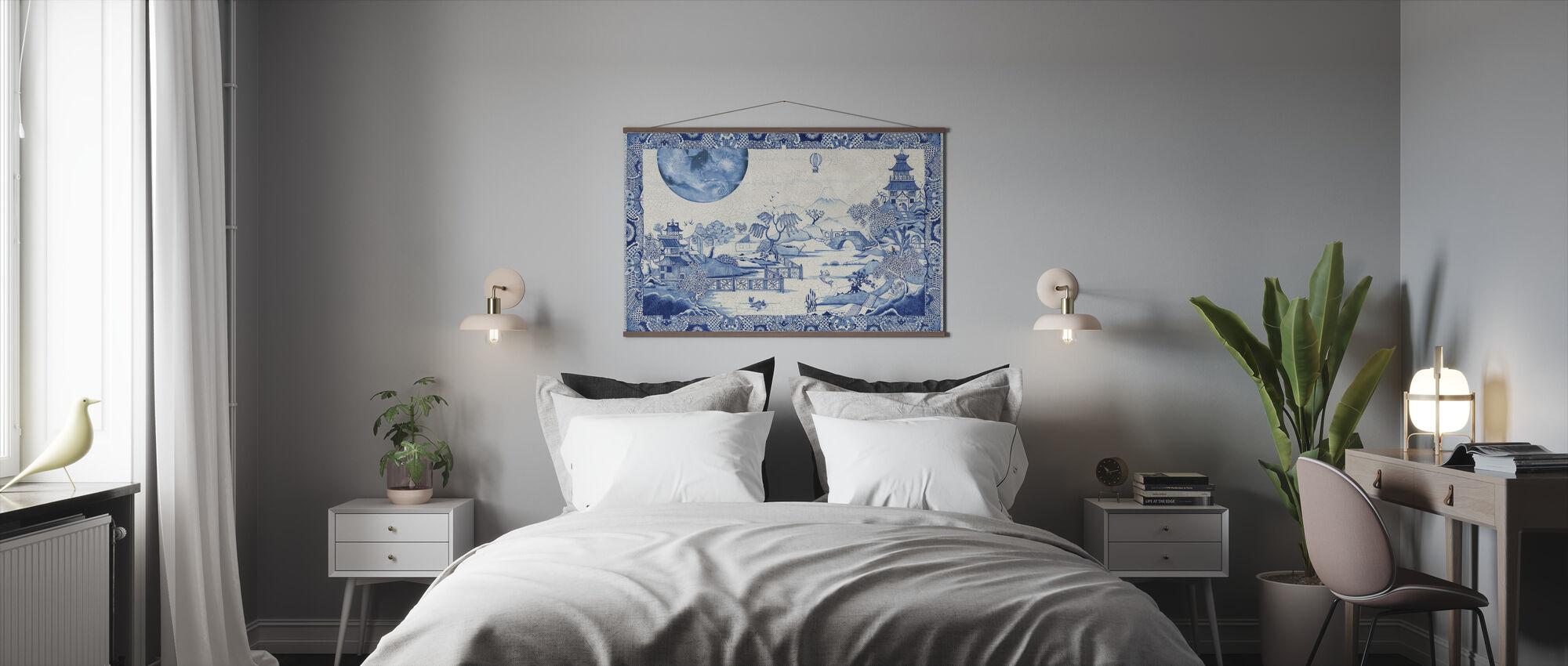 Blå månen galen - Poster - Sovrum
