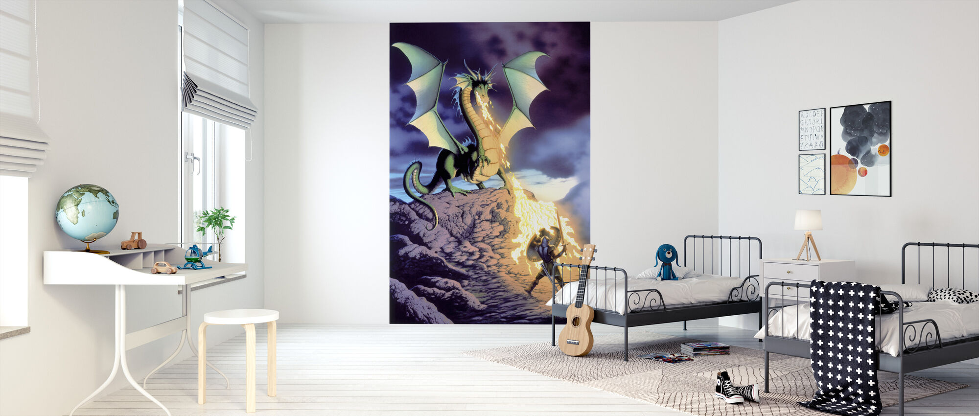 Dragon Warrior - Wallpaper - Kids Room