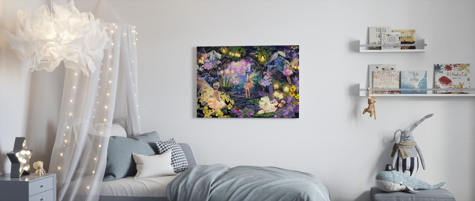 Fairy Hollow - Canvas print - Kids Room