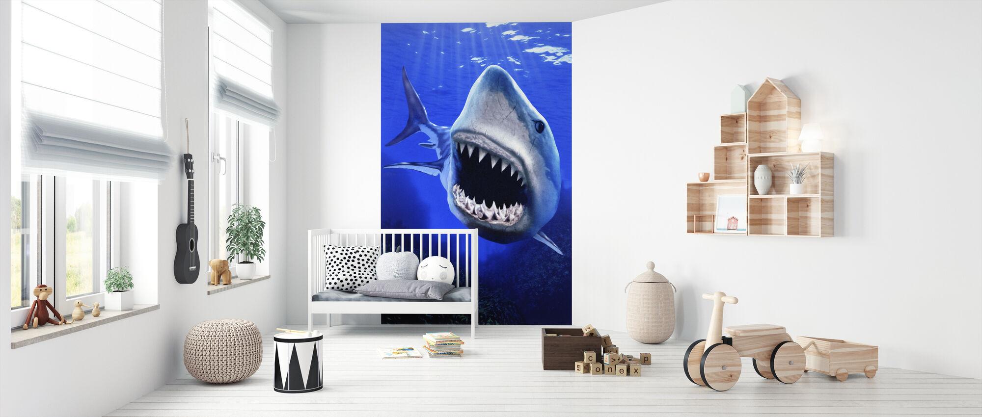 Shark Attack - Tapet - Babyrum