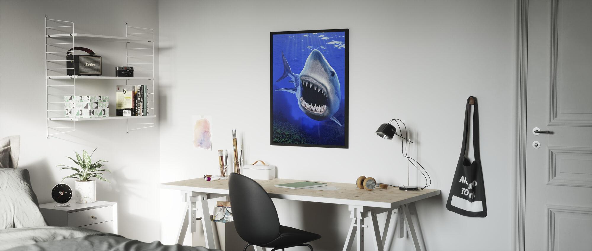 Shark Attack - Framed print - Kids Room