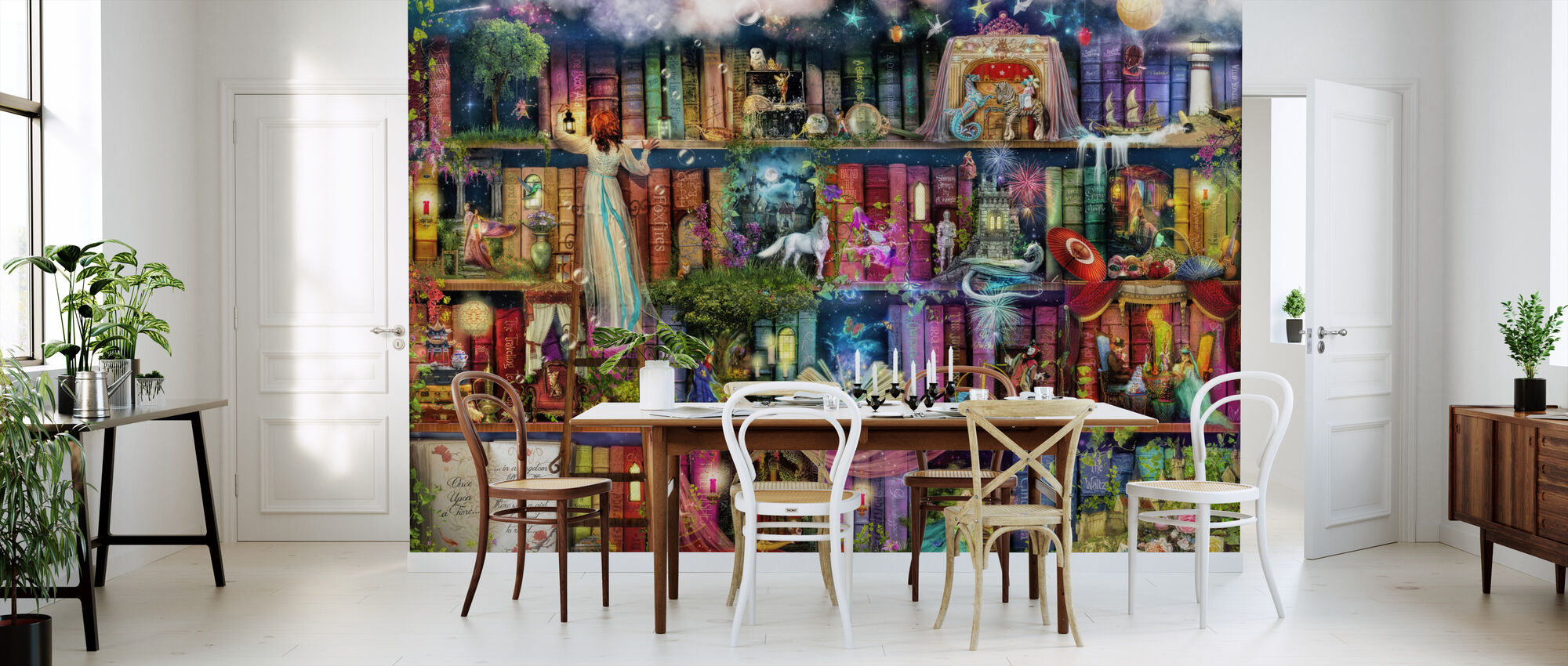 Treasure Hunt Book Shelf - Wallpaper - Kitchen