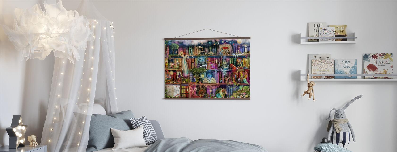 Schattenjacht boek plank - Poster - Kinderkamer