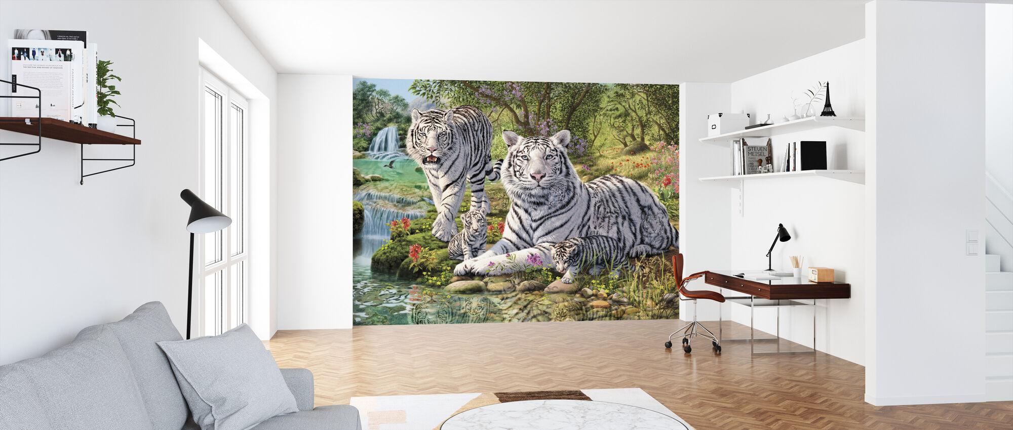 Valkoinen Tiikeri klaani - Tapetti - Toimisto
