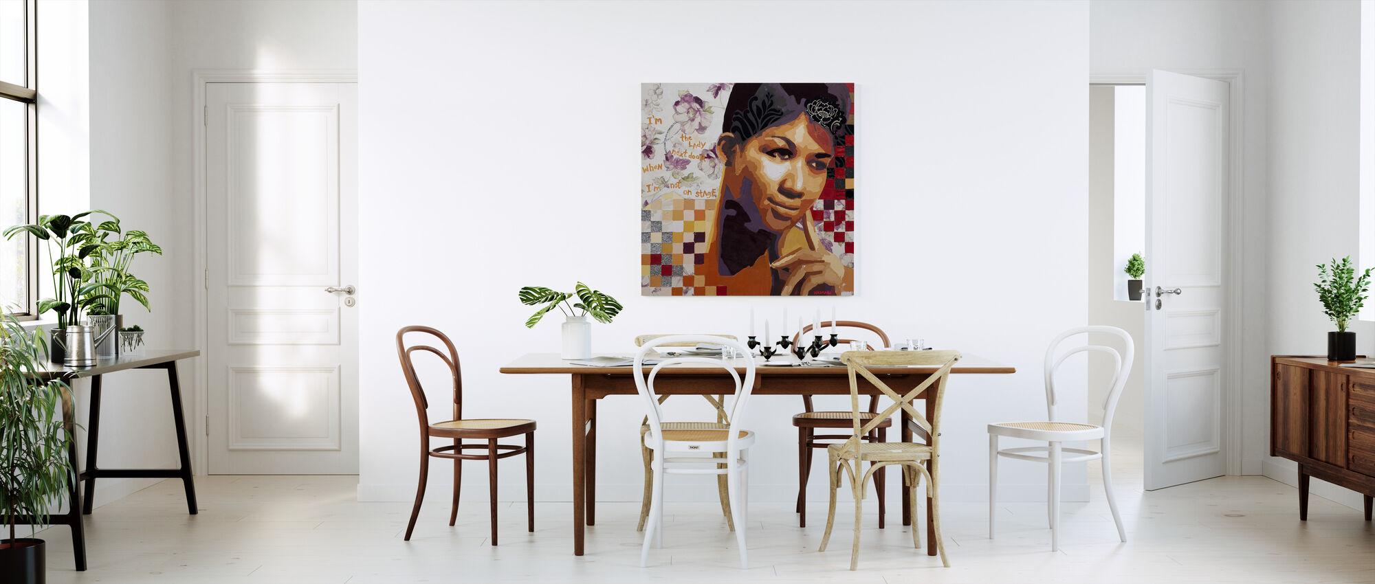 The Girl Next Door - Canvas print - Kitchen