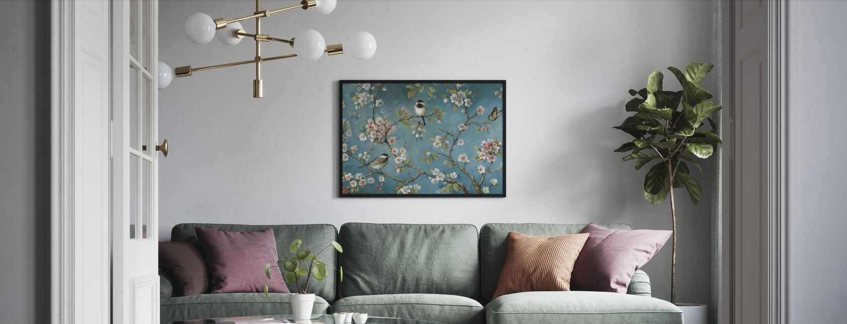 Blühen - Gerahmtes bild - Wohnzimmer