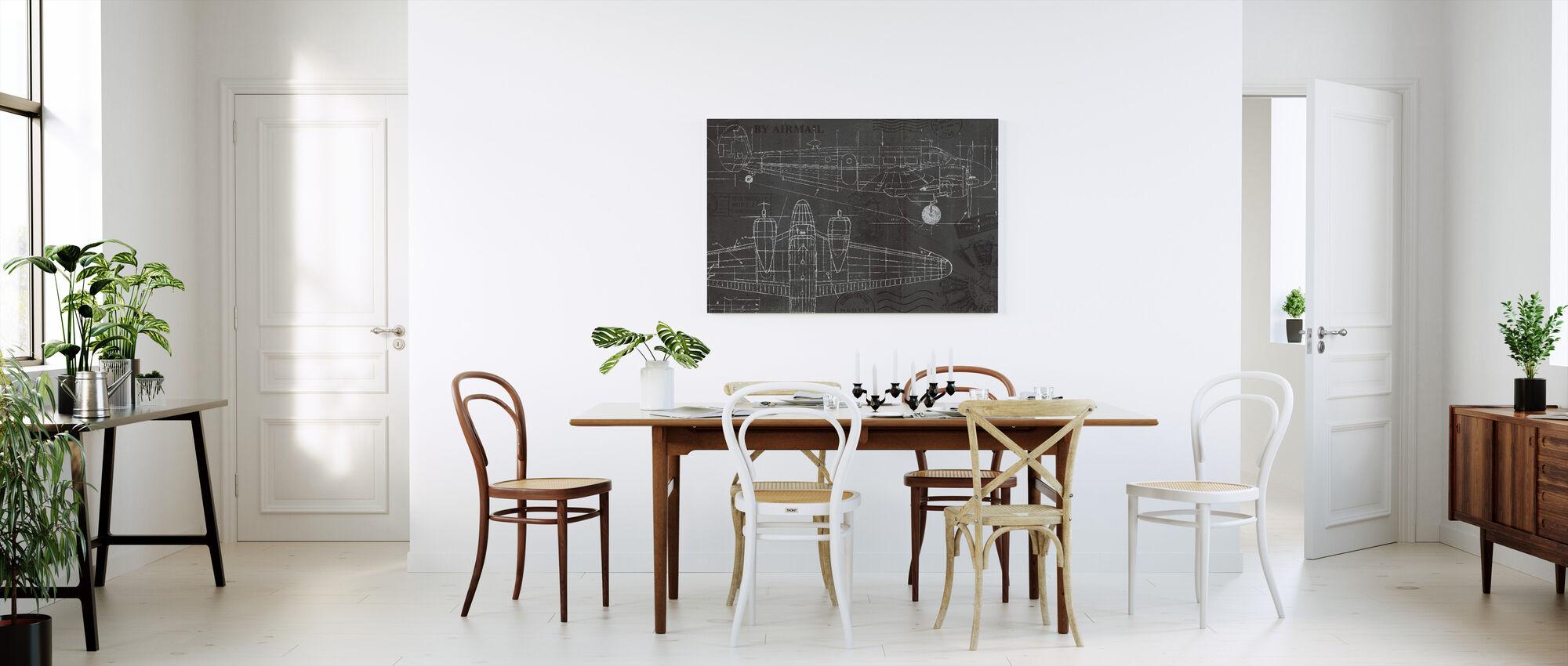 Plane blåkopi - Lerretsbilde - Kjøkken