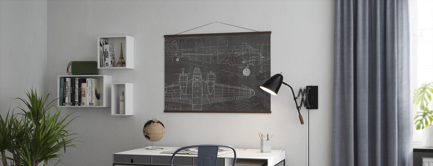 Plane Blueprint - Poster - Office
