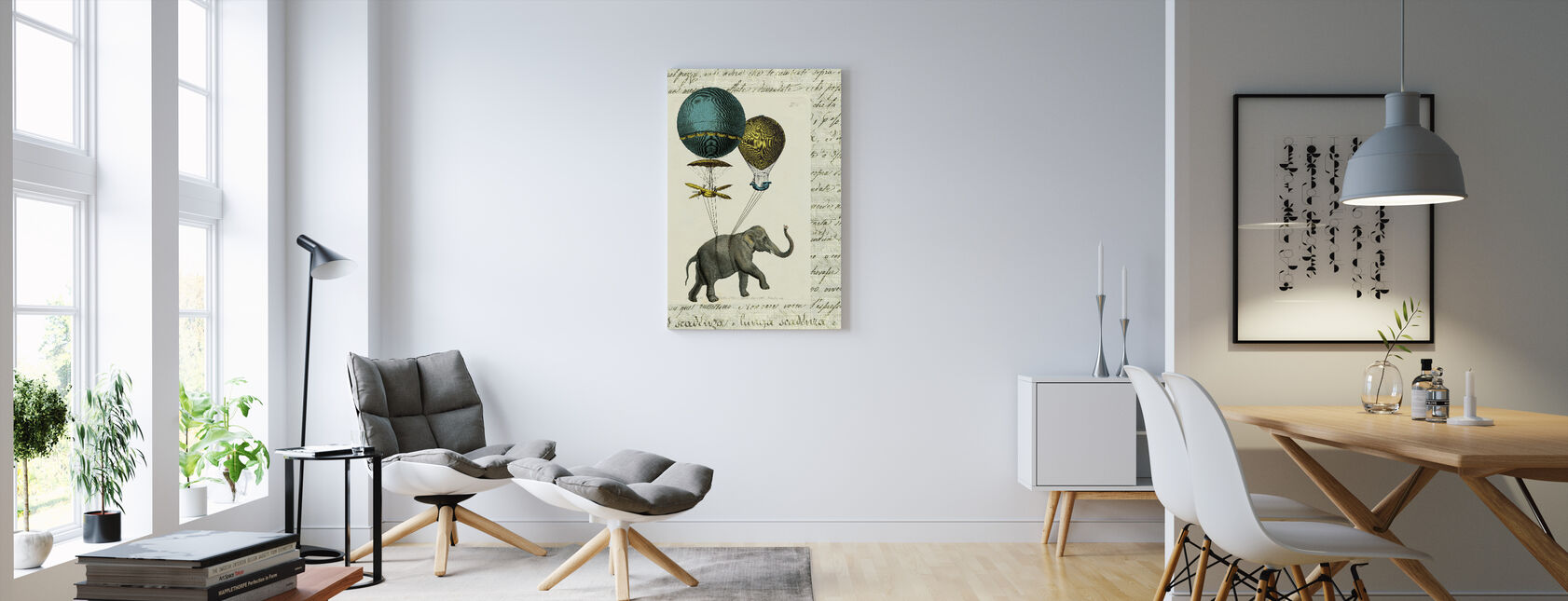 Elephant Ride 2 - Canvas print - Living Room