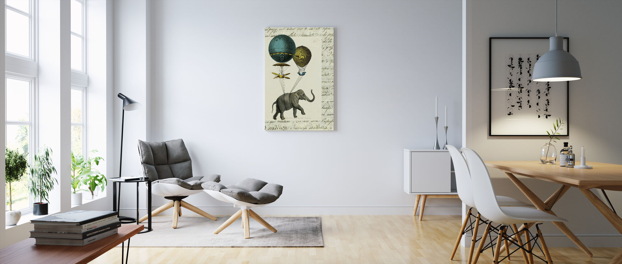 Olifant Ride 2 - Canvas print - Woonkamer