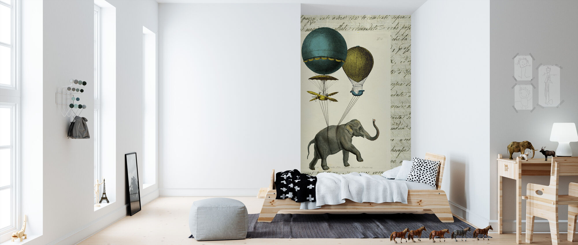 Olifant Ride 2 - Behang - Kinderkamer