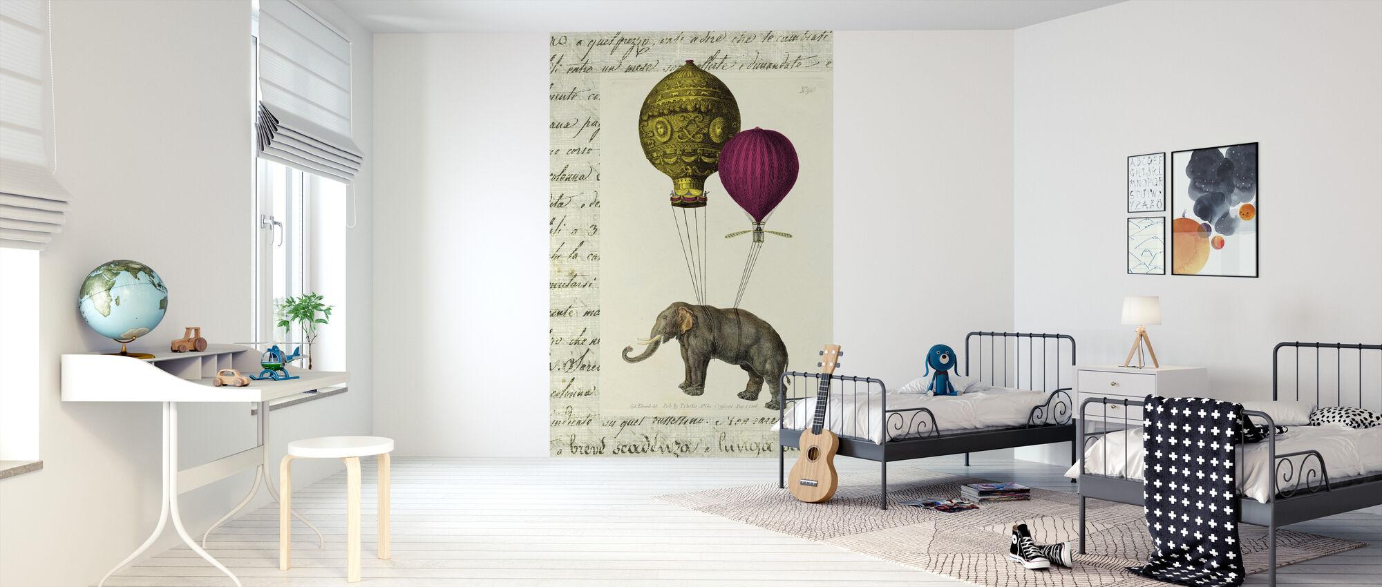 Elephant Ride - Wallpaper - Kids Room