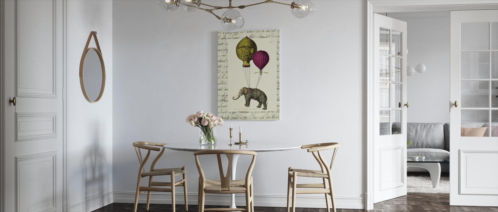 Elephant Ride - Canvas print - Kitchen