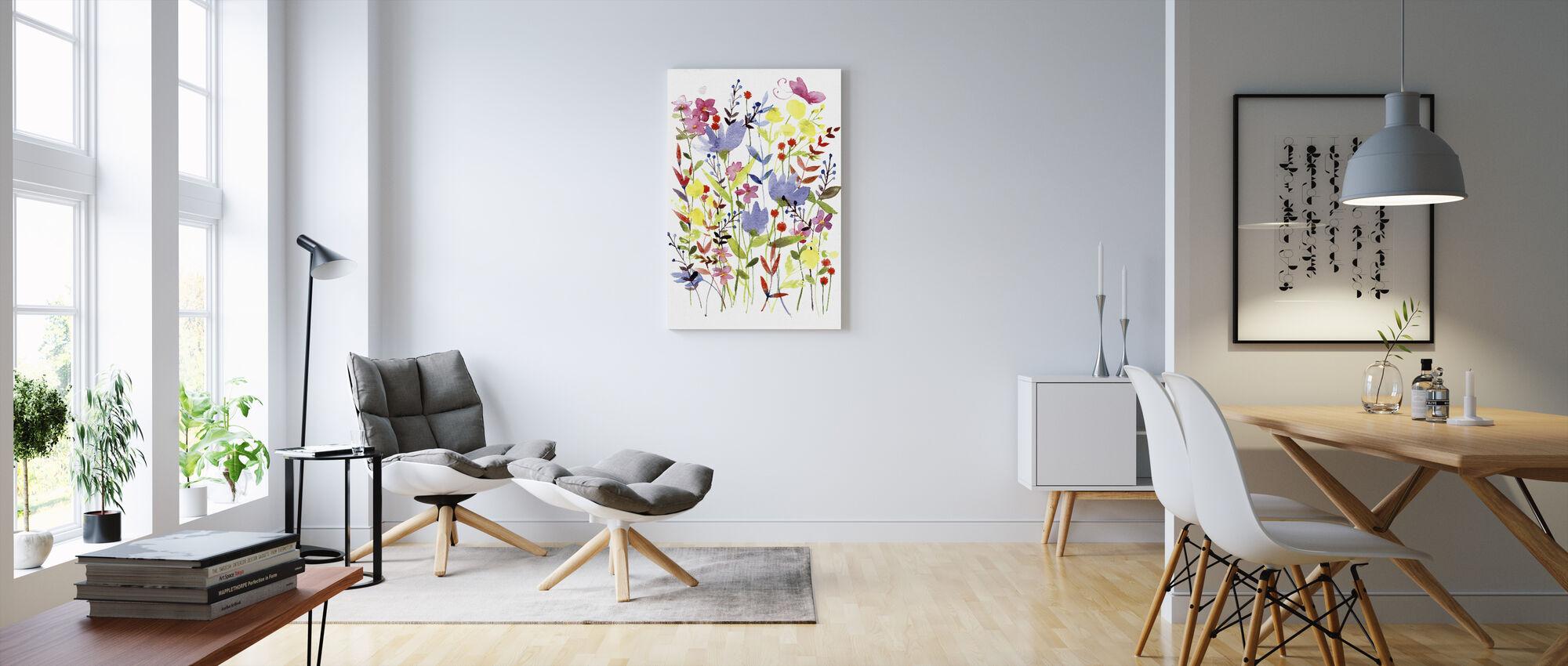 Annes Flowers - Canvas print - Living Room