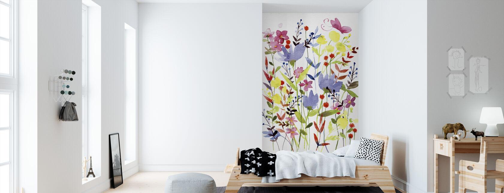 Annes Fleurs - Papier peint - Chambre des enfants