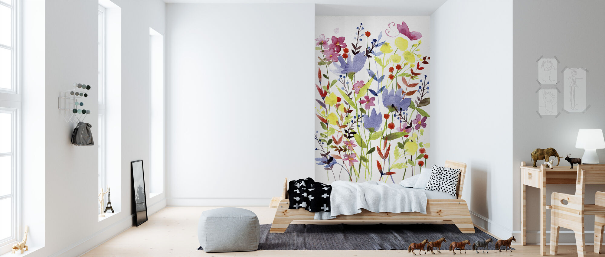 Annes Flowers - Wallpaper - Kids Room