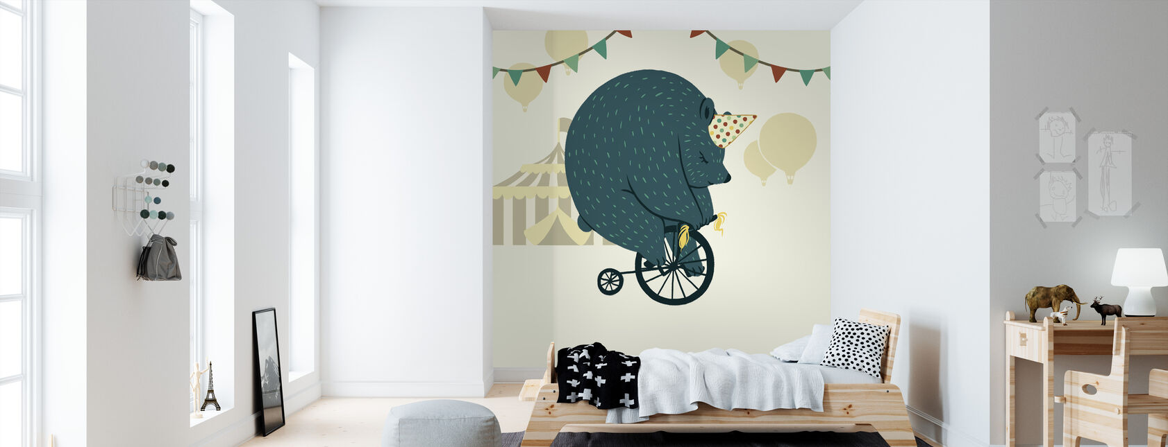 Pikku sirkuskarhu - Tapetti - Lastenhuone