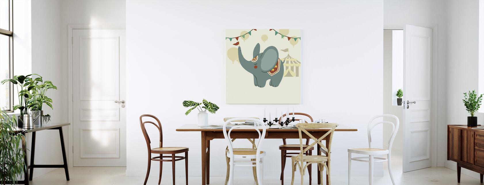 Little Circus Elephant - Canvas print - Kitchen