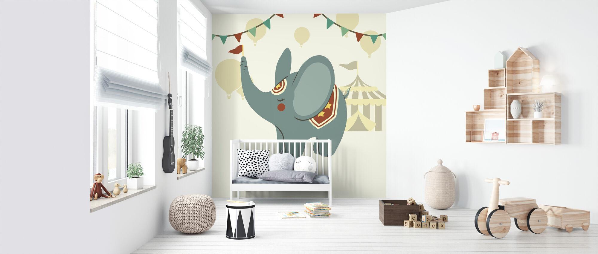 Little Circus Elephant - Wallpaper - Nursery