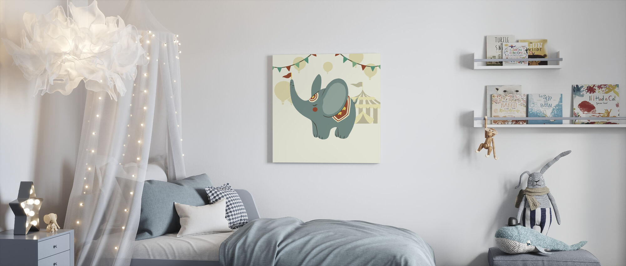Little Circus Elephant - Canvas print - Kids Room