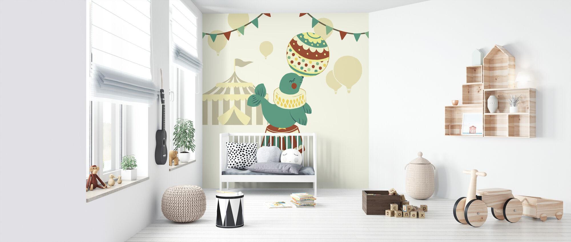Little Circus Seal - Wallpaper - Nursery