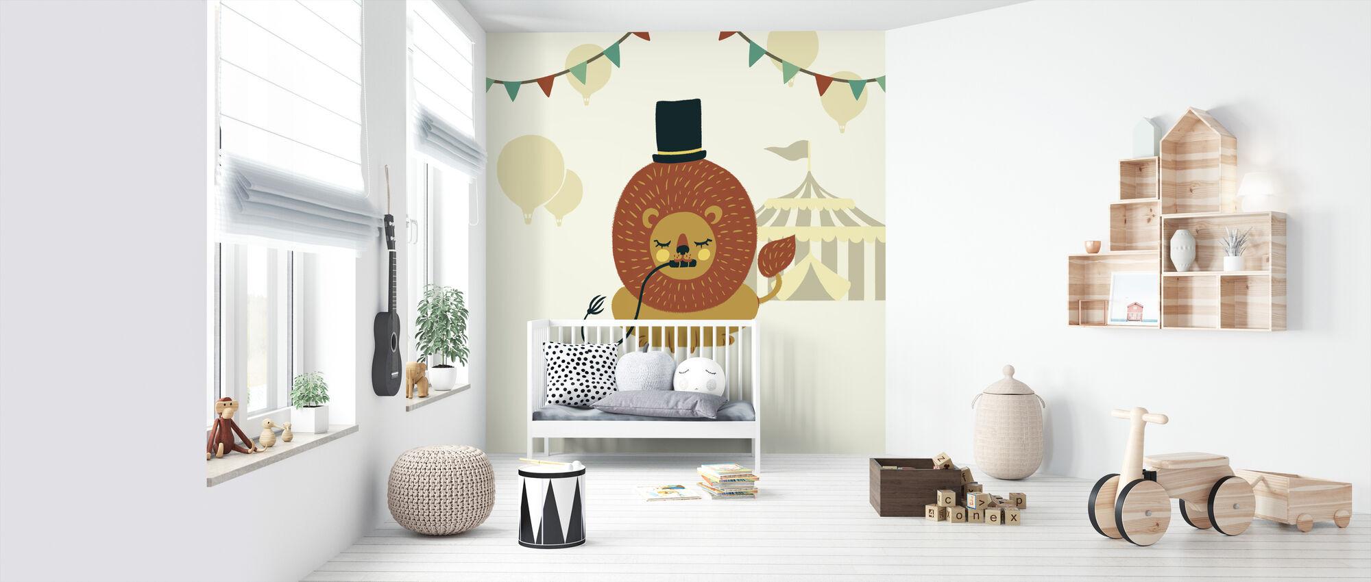 Little Circus Lion - Wallpaper - Nursery