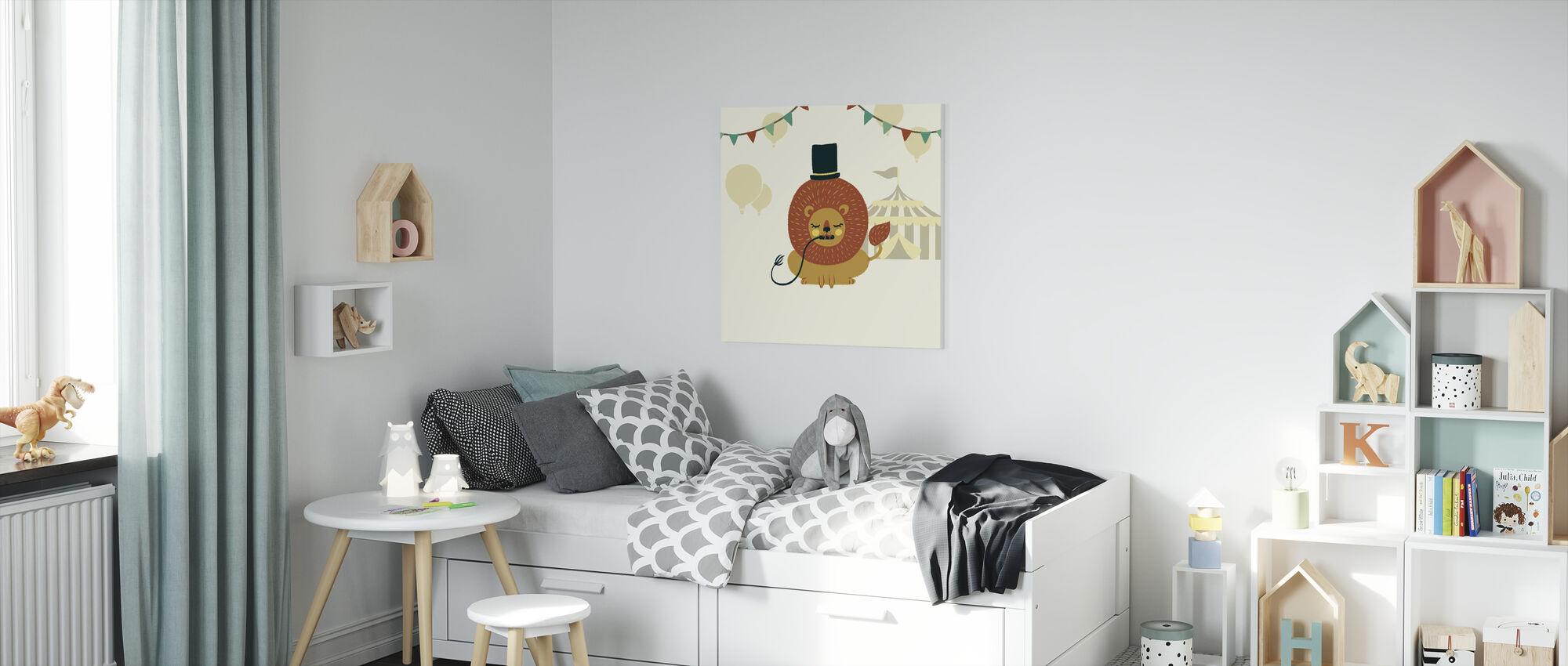 Little Circus Lion - Canvas print - Kids Room