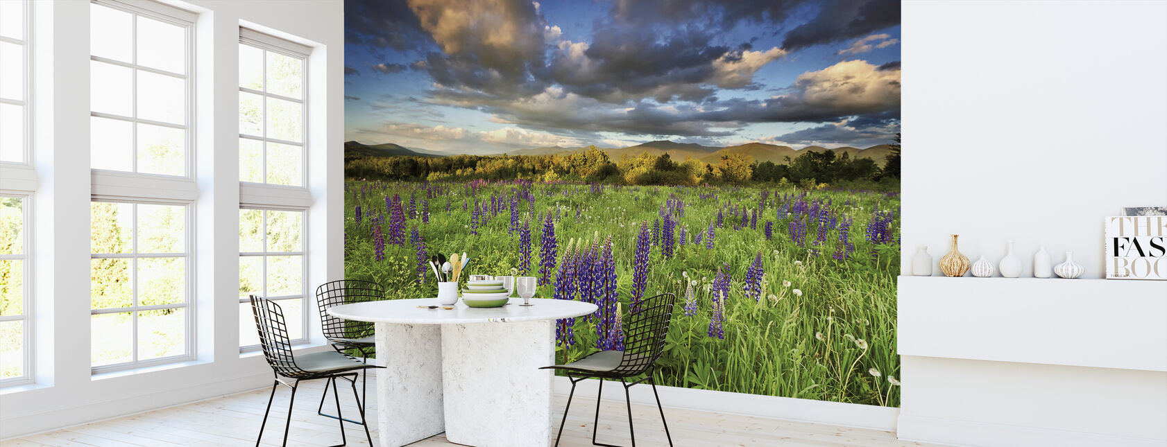 Lupine Sunset - Wallpaper - Kitchen