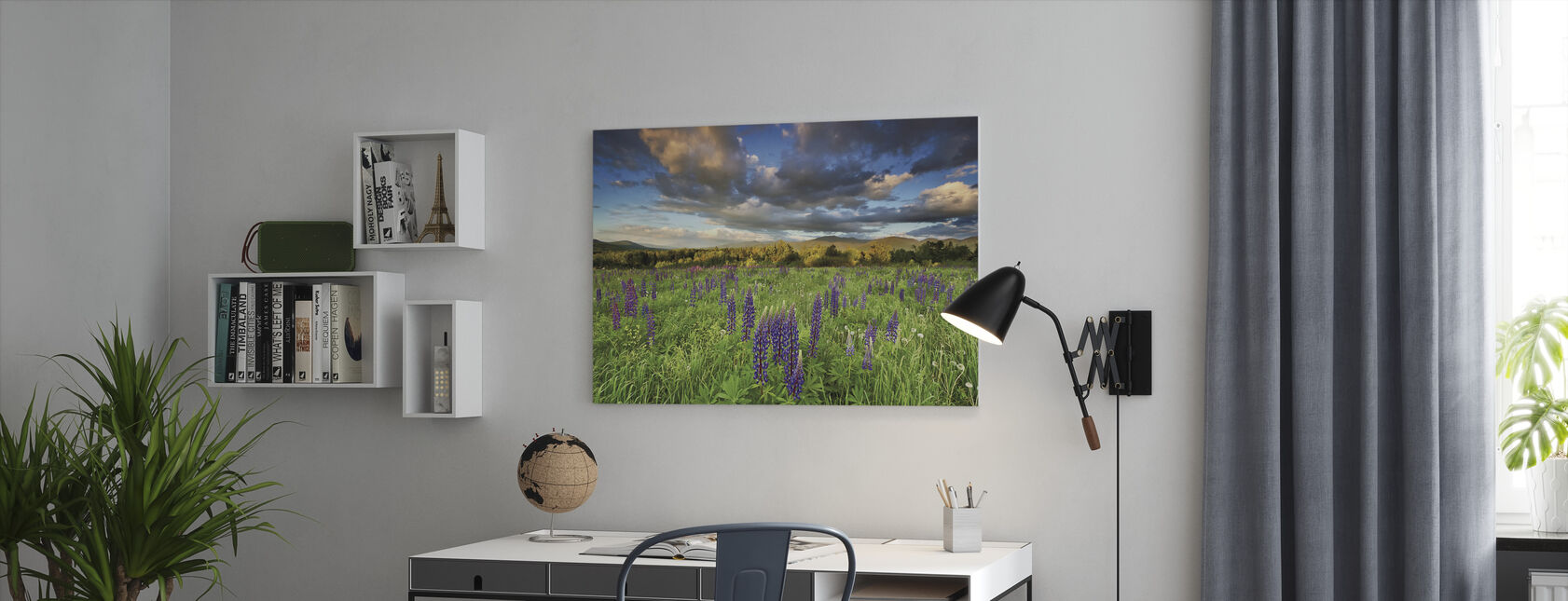 Lupine Sunset - Canvas print - Office