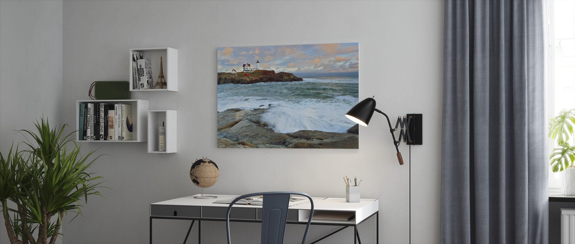 Nubble Sunset - Canvas print - Office