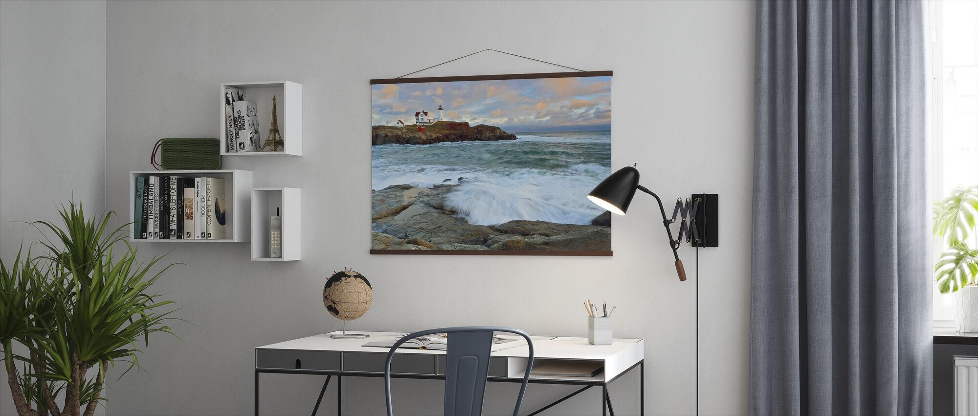 Nubble Sunset - Poster - Office