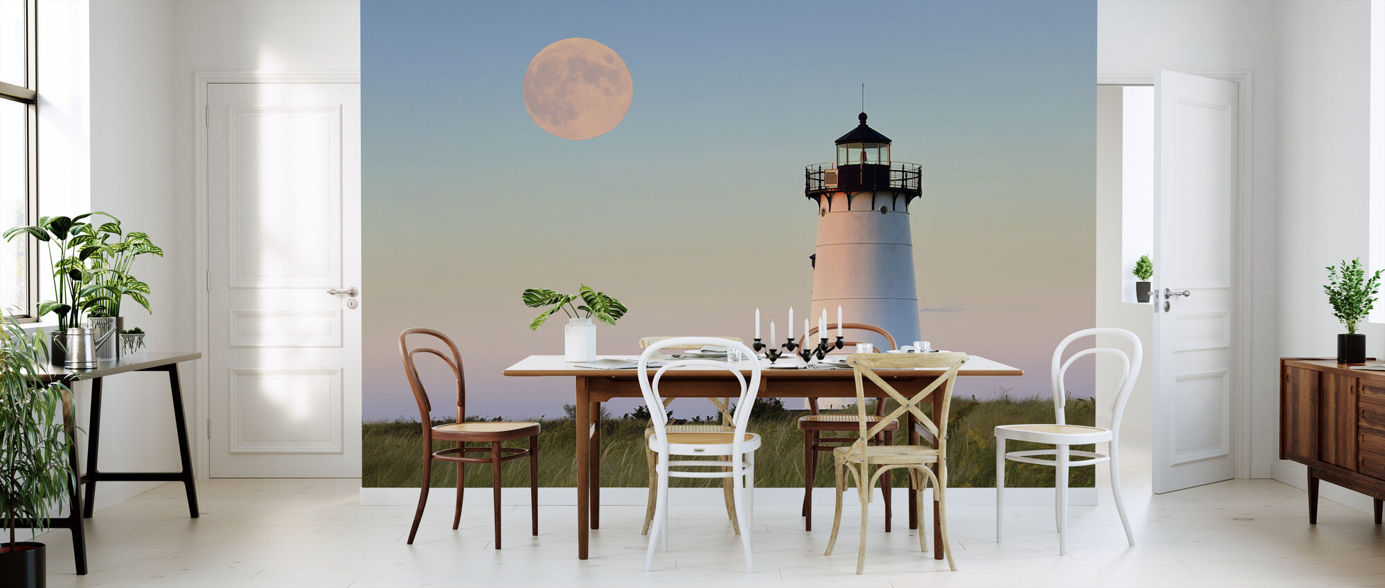 Moon Over Marthas Vineyard - Wallpaper - Kitchen