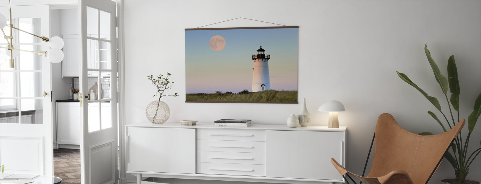 Moon Over Marthas Vineyard - Poster - Living Room