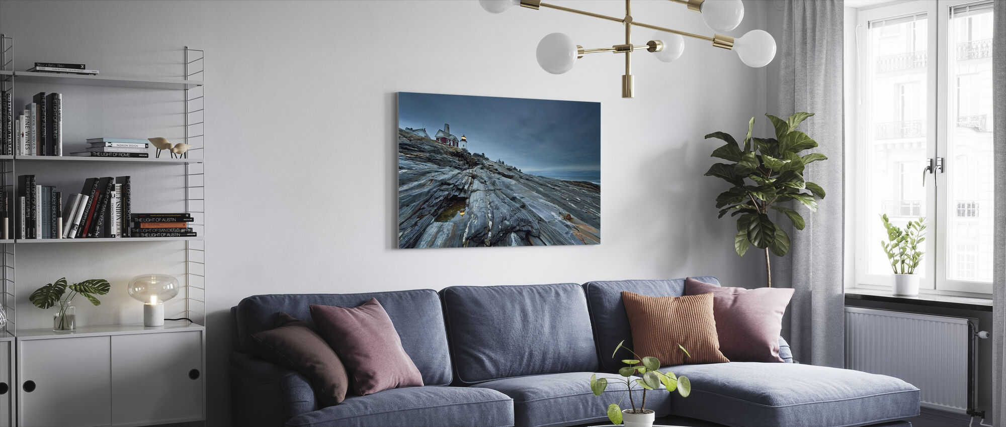 Study in Blue - Canvas print - Living Room