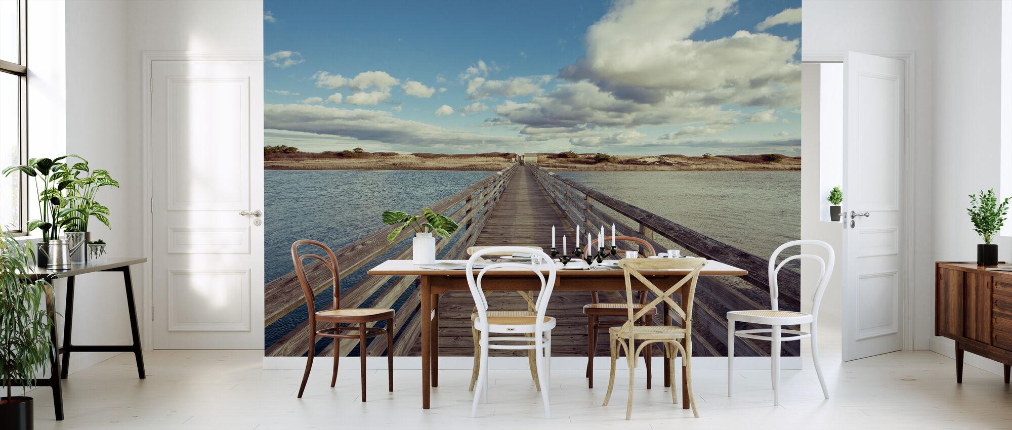 Bro till stranden - Tapet - Kök