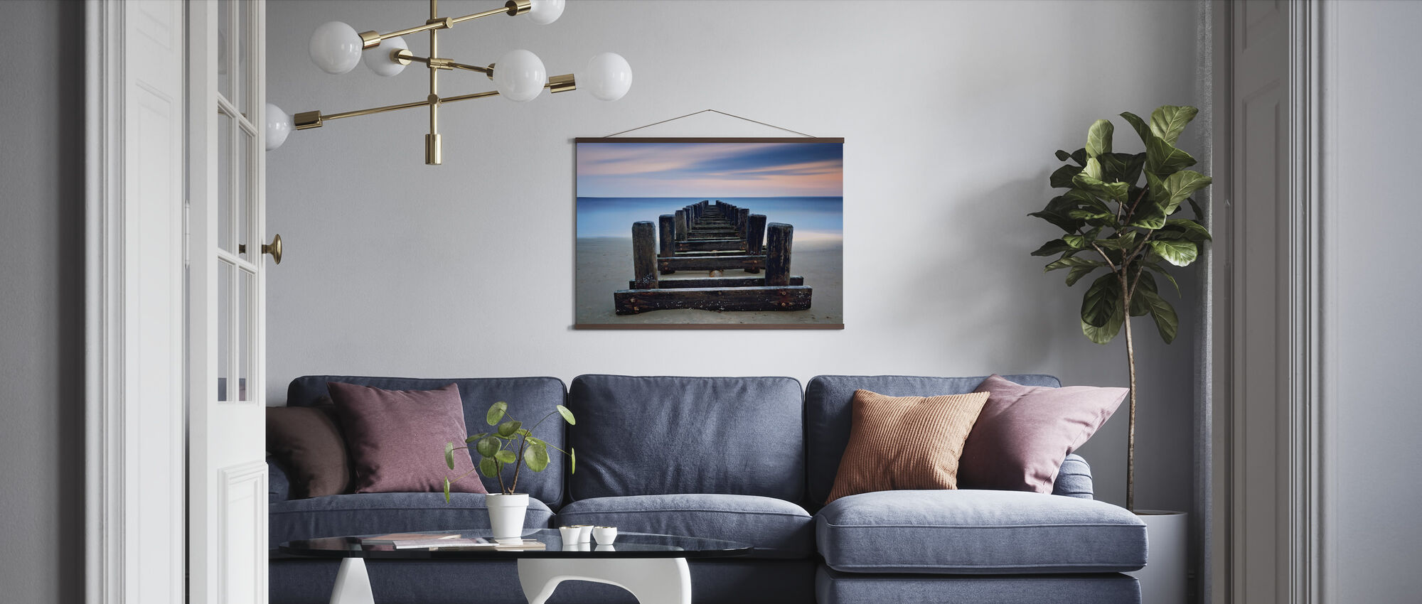 Coney Island Pier - Poster - Living Room