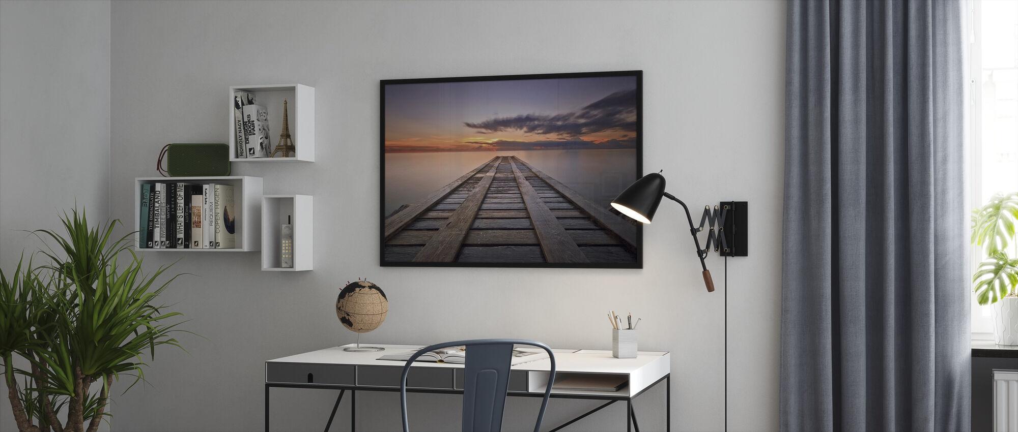Cosmic Dock - Framed print - Office