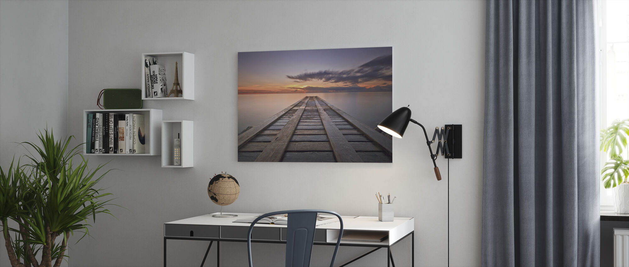 Cosmic Dock - Canvas print - Office