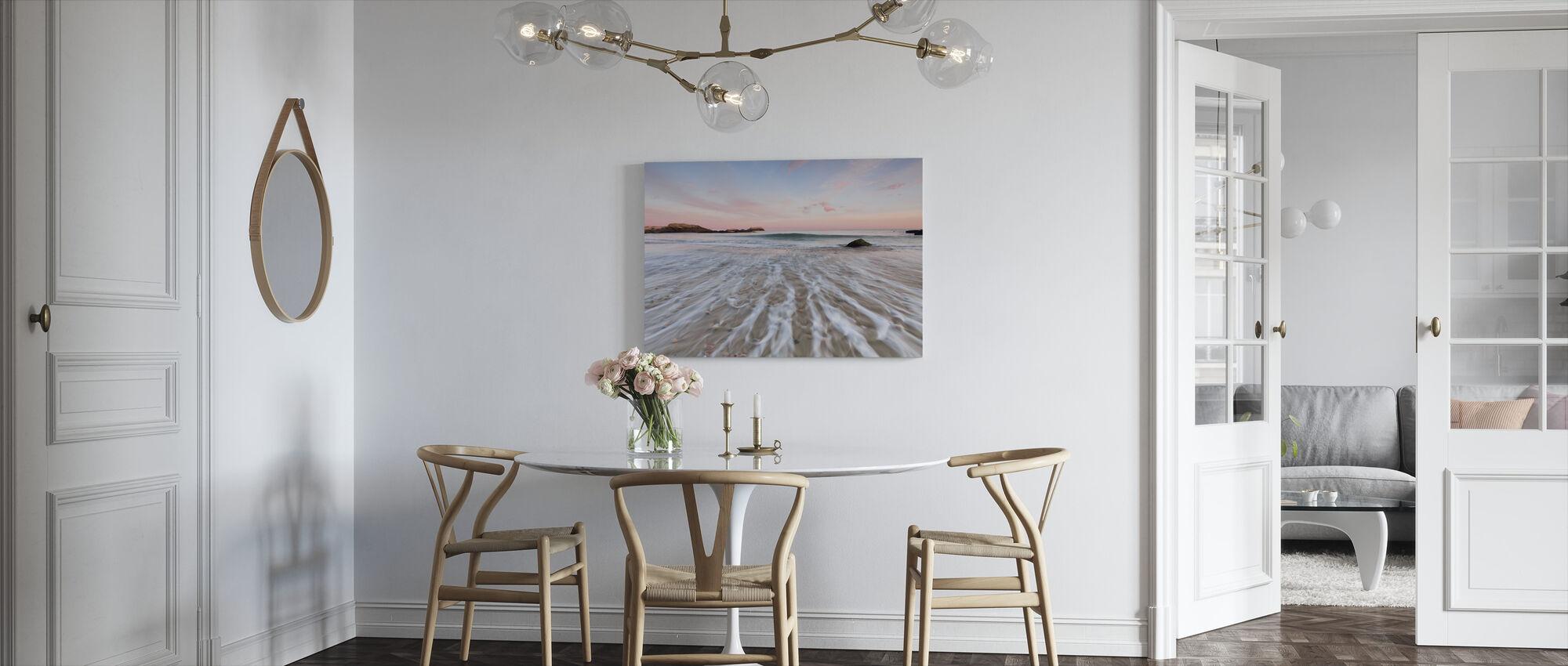 Drijfhout Zonsondergang - Canvas print - Keuken