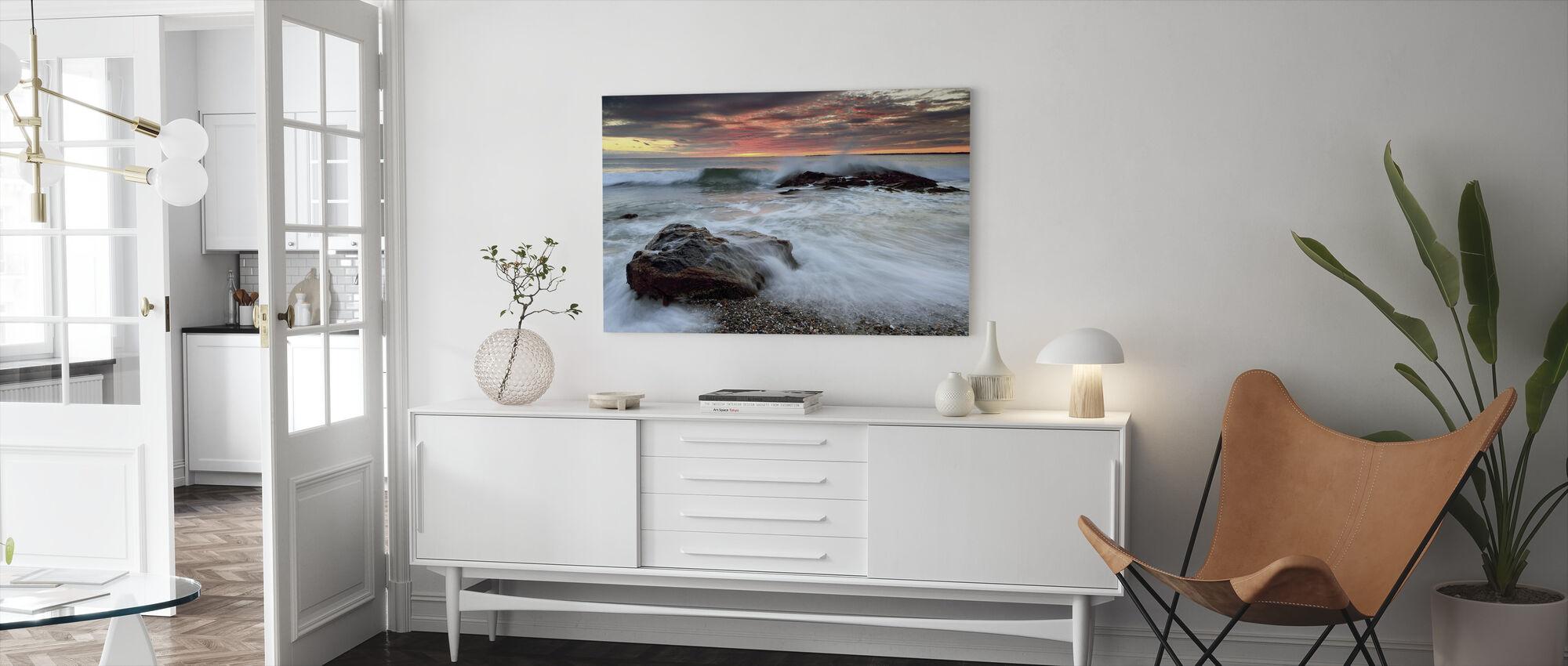 Splash Boom - Canvas print - Living Room